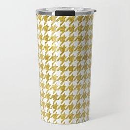 Golden Pied de Poule Travel Mug