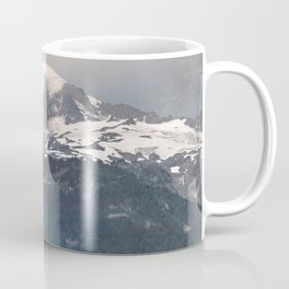 Mountain Wanderlust Adventure Mount Rainier Seattle - Nature Photography Coffee Mug