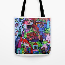 Rosie and the Cat Mother Tote Bag