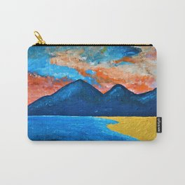 Evening Tide at Murlough - Abstract Seascape Oil Painting Carry-All Pouch