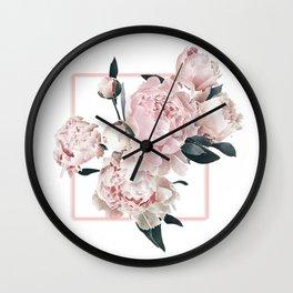 Peony Burst Wall Clock