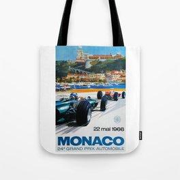 Gran Prix de Monaco, 1966, original vintage poster Tote Bag