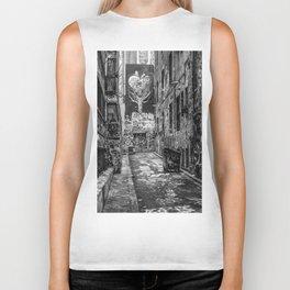 City Life (Black and White) Biker Tank