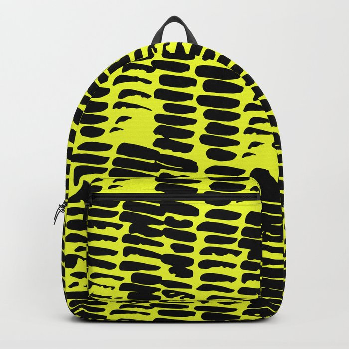 Black on yellow pattern Backpack