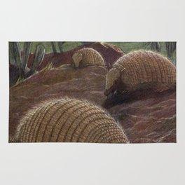 Vintage Armadillo Painting (1909) Rug