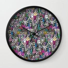 Gemstone Cats CYMK Wall Clock