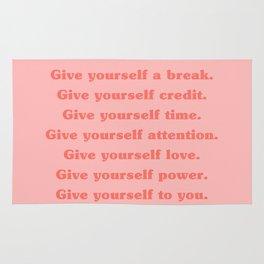 Give yourself... Rug