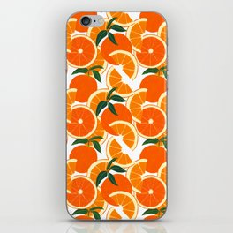 Orange Harvest - White iPhone Skin