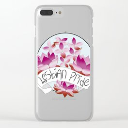 Lesbian Pride Flowers Clear iPhone Case