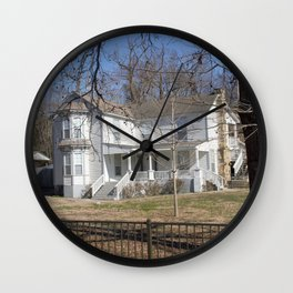 Cherokee Nation - The Ivy-Duncan-Dannenburg Home, built in 1874 Wall Clock