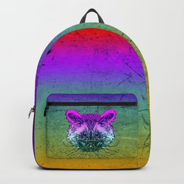 Cool Raccoon Color Backpack