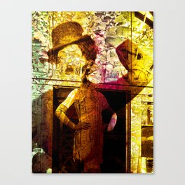 """Fall Faces: Roaring Twenties"" Canvas Print"
