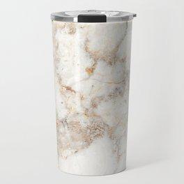 Marble Natural Stone Grey Veining Quartz Travel Mug
