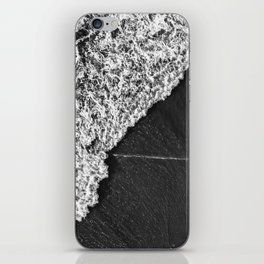 Ocean Waves in Black & White  |  Drone Photography iPhone Skin