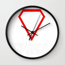 FIREFIGHTER SUPERDAD Wall Clock