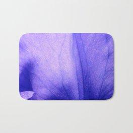 Macro Ultra Violet Iris Bath Mat