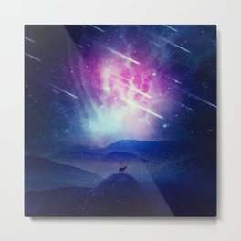 Majestic Cosmic Guardian Metal Print