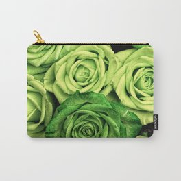 Green Roses Carry-All Pouch