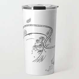 Skate Park Flowers Travel Mug