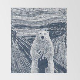 bear factor Throw Blanket