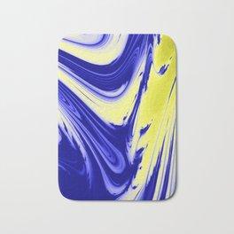 Swirls Of Blue and Yellow Bath Mat