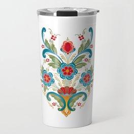 Nordic Rosemaling Travel Mug