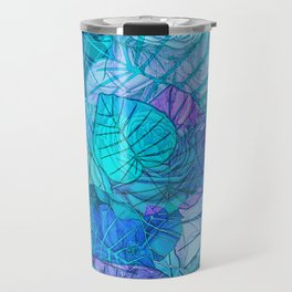 Leaves in Rosy Background 3 Travel Mug