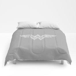 wonder of woman logo Comforters