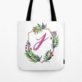 Jungle Gold Monogram Crest J Tote Bag