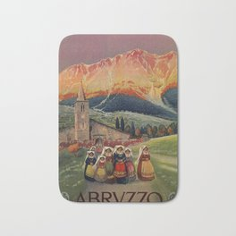 Abruzzo Italian travel back from church Bath Mat