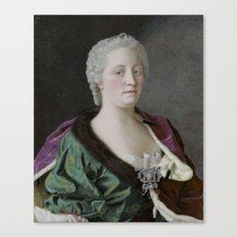 Maria Theresia of Austria (1717-80),   Jean-Etienne Liotard, 1747 Canvas Print