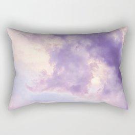 Purple Pink Clouds Rectangular Pillow