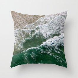 Riding high amongst the waves II Throw Pillow