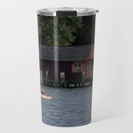 Boating on the Connecticut River Travel Mug