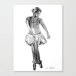 Ballerina in Black&White Canvas Print