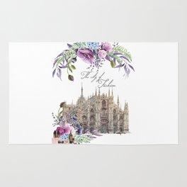Duomo di Milano Milan Italy Vintage Rug