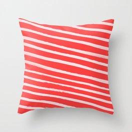 Candy Cane Throw Pillow