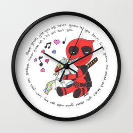 The Merc with a mouth loves unicorns Wall Clock