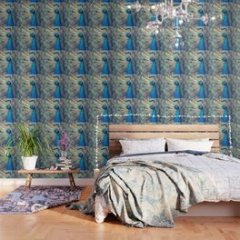 Peacock in the courtship Wallpaper