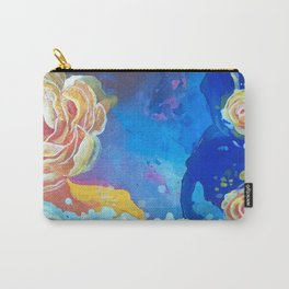 Mad Lucy's Golden Roses. Yellow Roses and Galaxy Blue. Carry-All Pouch