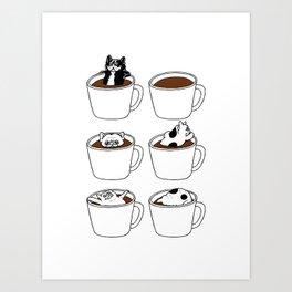 More Coffee French Bulldog Art Print
