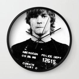Cobain Mugshot Wall Clock
