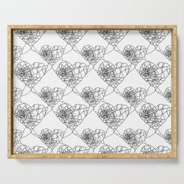 Heart shaped spider web pattern Serving Tray