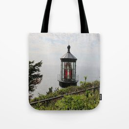 The Red Beacon On Tillamock Bay Tote Bag
