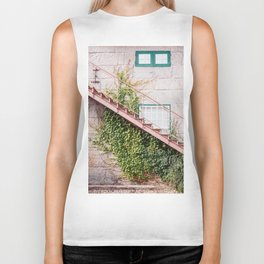 Stone House with Ivy Wall Biker Tank