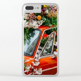 Flower Bomb Clear iPhone Case
