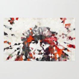 Modern Red Indian Chief - Sharon Cummings Rug