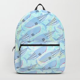 Whale Pattern Backpack