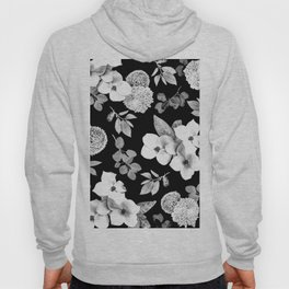 Night bloom - moonlit bw Hoody