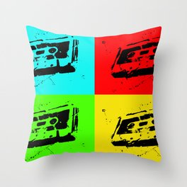 Cassettes Square Throw Pillow
